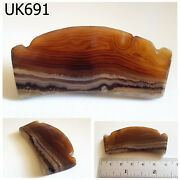 2 Rare Natural Plate Agate Carved Tribal Bead Afghanistan Boomerang Uk691a