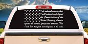 United States Armed Forces Oath Of Enlistment Vinyl Decal Sticker Truck Window