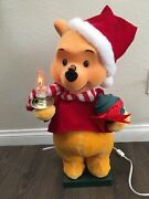 Telco Christmas Winnie The Pooh Candle Bee Nose Disney Animated Motionette 24