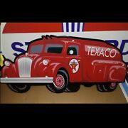 Texaco Oil Company Tanker Truck Sign - Very Large Size 22 X 47 Brand New