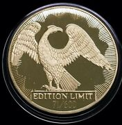 1993 Russia Russian 5 Oz Wildlife - Gilt Collector's Series Silver Medal 71/600