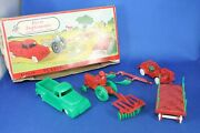 O/s - Plasticville - 1302 Farm Implement - Red With Green - Excellent Condition