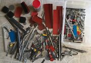 Huge Lot Of Vintage Erector Set Parts Many Many In Plastic Bin Build Play Learn