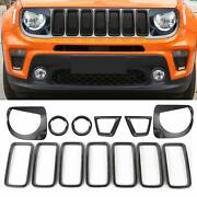 Front Grille Inserts Fog Light Turn Signal Headlight Cover For Renegade 19+ 13pc