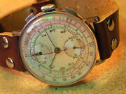 Vintage Oversize Oriental Omega Trade Mark Wrist Chronograph Orig. Cond.1930and039s