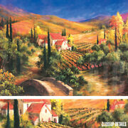47wx35h Tuscan Bridge By Art Fronckowiak - Overpass Valley - Choices Of Canvas