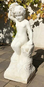 31.5 Antique 19th C Italian Marble Sculpture Hand Carved Goddess Women Statue
