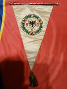 Old Pennant Banner Flagge Avd Wimpel German Automobile Club Automobilclub 1948