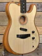 Fender American Acoustasonic Telecaster Acoustic/electric Guitar Natural W/ Gigb