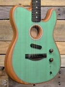 Fender American Acoustasonic Telecaster Acoustic/electric Guitar Surf Green W/ G