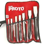 Stanley Proto Cold Chisel Set 86b 7pcs Imperial, Heat-treated S2 Steelusa Brand
