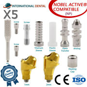 5 Angulated Multi Unit 30° Abutment Np For Nobel Biocare Active Hex Kit