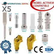 5 Angulated Multi Unit 17° Abutment Np For Nobel Biocare Active Hex Kit