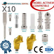 10 Angulated Multi Unit 17° Abutment Rp For Nobel Biocare Active Hex Kit