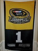 2016 Nascar Chase For The Sprint Cup Signed 1 Jamie Mcmurray 59x36 Banner