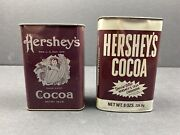 Vintage Hershey's Cocoa Tin Advertising Coin Banks Lot Of 2