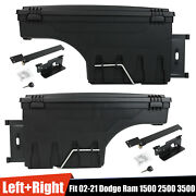 For Dodge Ram 1500 2500 3500 2x Lockable Storage Truck Bed Tool Box Left Andright