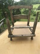 Handcrafted Antique Chair , Doll Bed , Plant Stand Country Primitive Garden