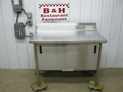 Universal Stainless Steel 48 X 30 Heavy Duty Table 2 Door Kitchen Cabinet 4and039