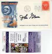 John Glenn Signed Vintage First Day Cover From 1962   Project Mercury   Jsa