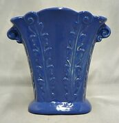 Red Wing Rum Rill Pottery Rare Royal Blue Vase 522