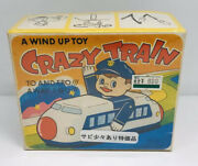 Nib Sealed Made In Japan Crazy Train St Wind Up Tin Toy Yone No. 2164