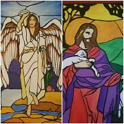 Jesus And Angel Stained Glass Paintings Jesus Religious Heaven Spiritual