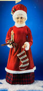 28andrdquo Animated Musical Mrs Claus Gingerbread Cookie Baker Christmas Holiday Living