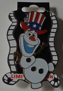 Disney Dssh 4th Of July Olaf Surprise Release Pin Le 400