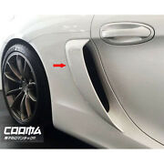 Painted Abs Side Air Scoop Vents Intake For Porsche 981 Cayman With Gt4 Logo