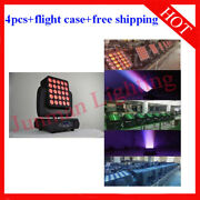 25×12w Rgbw 4 In 1 Matrix Led Beam Moving Head Stage Wash Light 4pcs With Case