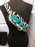 Arohoe Women's Studded Hair Leather Unique Belt Turquoise Accent Slab Large