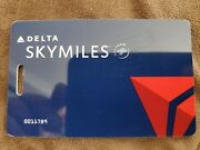 Delta Airlines Skymiles Luggage Bag Carry On Tag Collector Collectible Vintage