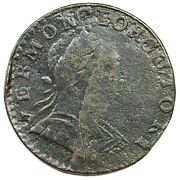 1788 Rr-18 R-4+ Over Struck Vermont Colonial Copper Coin