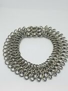 David Yurman Atlas Sterling Silver And 18k Gold Chainmail Heavy Choker Necklace
