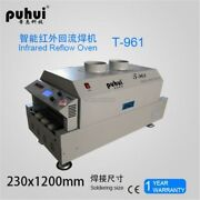 Led T961 Reflow Oven Bga Smt Sirocco / Rapid Infrared Soldering Machine New Pc