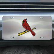 St. Louis Cardinals Diecast Chromed Metal License Plate Tag