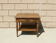 Ethan Allen Classic Manor Maple Lamp Table