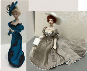 Choice Of Fashion Porcelain Dolls In Miniature In Dollhouse Scale 112