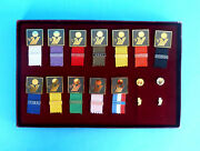 Fiba Euro Basket 1975 Complette Set Participant Badges In Orig.box Basket Ball