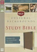 Nkjv Cultural Backgrounds Study Bible Leathersoft Brown Red Letter Edition