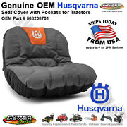 Husqvarna Seat Cover W/ Gear Pockets For Tractor Seats 15 / 588208701 531308228