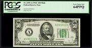 50 1934c Mule Federal Reserve Note Boston Pcgs Very Choice New 64 Ppq