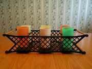 Burrite Tumblers Cups + Plastic Carry Caddy Vintage Retro Party Patio Set Of 8
