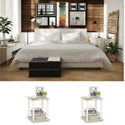 3 Piece King Size Bedroom Set Furniture Modern Style Lux Bed 2 Nightstands White