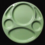 Johnand039s Service Plate For Hollywood Studio Caterer Original Green Enamelware Euc