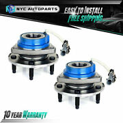 2 Front Wheel Hub Bearing For 2wd 2000-2013 Chevy Impala Century Lesabre Venture