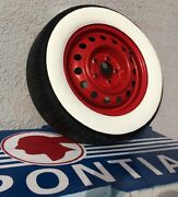 1929 Ford A Model Roadster Hot Rod 16 Rim 3.15 80mm Wide Whitewall Tire Trim