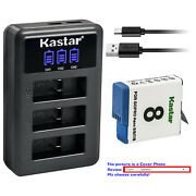 Kastar Battery Lcd Triple Charger For Gopro Ahdbt-801 Hero 8 And Gopro Hero8 Black