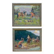 Andldquothe Loot And The Captureandrdquo By August Curley Lenox Oil On Canvas